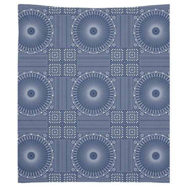 Gujarat Bandhani Blue from my15bohemianart Collection Tapestry-Wall Tapestry-famenxt