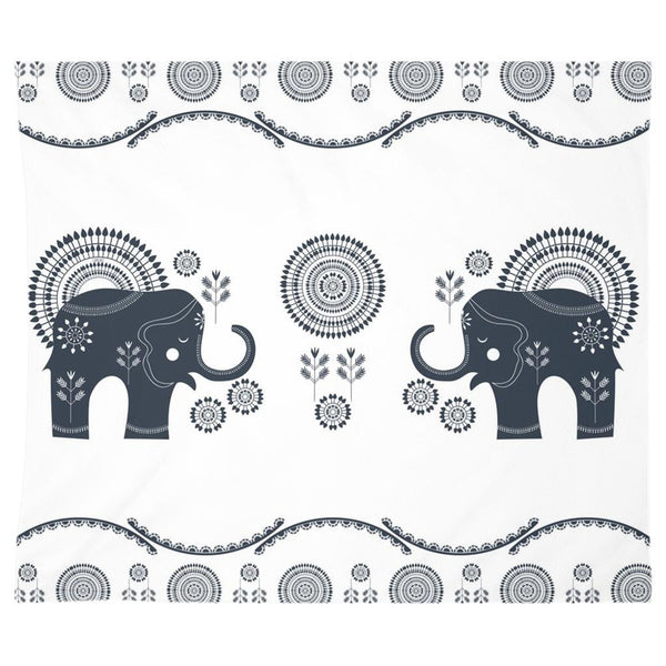 Bohemian Elephants from my15bohemianart Collection Tapestry-Wall Tapestry-famenxt