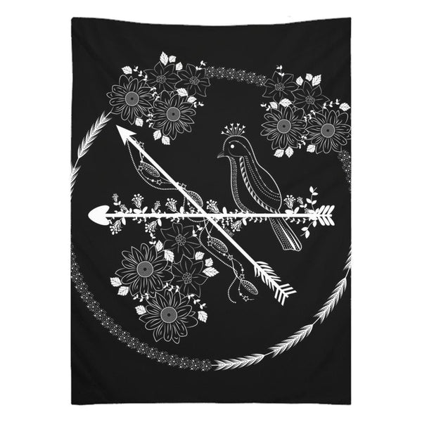 Arrows and Bird from my15bohemianart Collection Tapestry-Wall Tapestry-famenxt