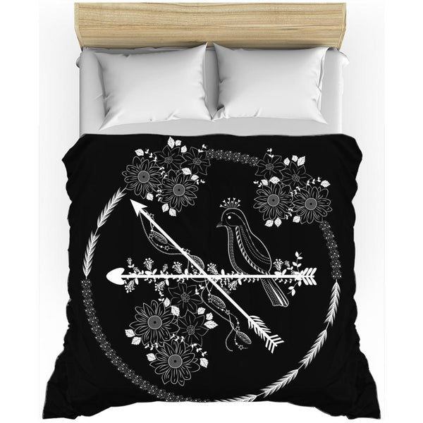 Arrows and Bird from my15bohemianart Collection Duvet Cover-Duvet Cover-famenxt