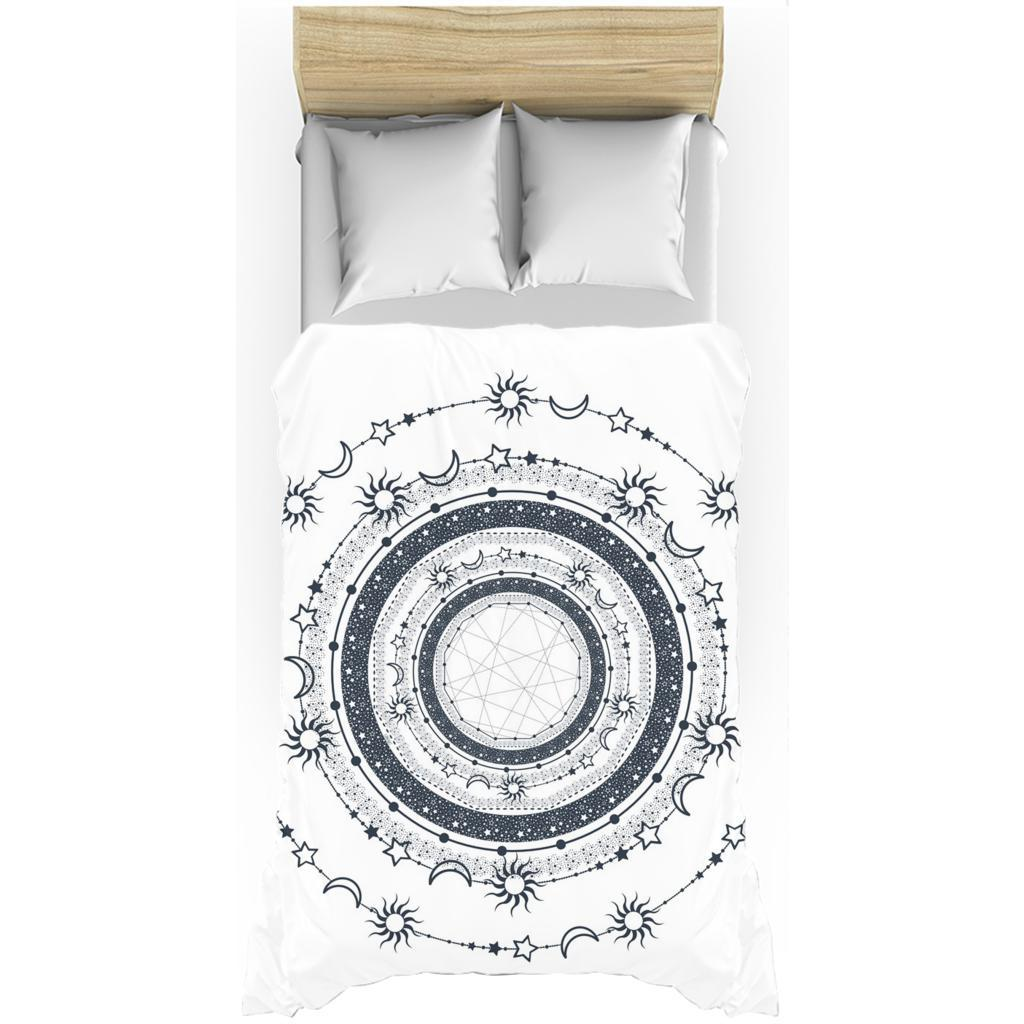 Bohemian Sun Moon Stars from my15bohemianart Collection Duvet Cover-Duvet Cover-famenxt