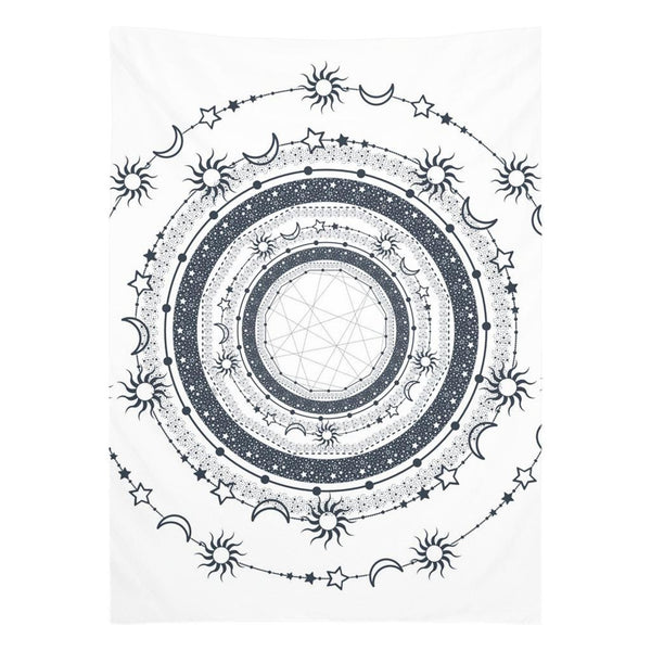 Bohemian Sun Moon Stars from my15bohemianart Collection Tapestry-Wall Tapestry-famenxt
