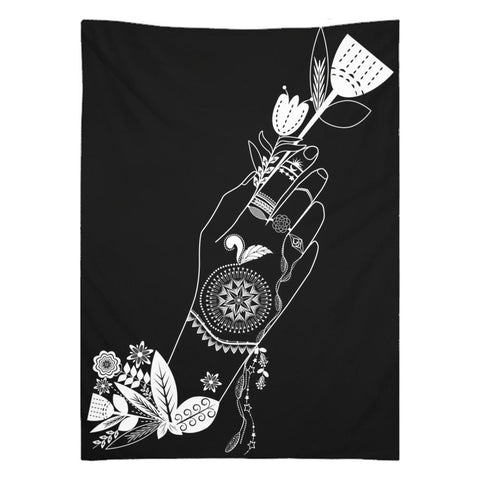 Bohemian Flower Girl from my15bohemianart Collection Tapestry-Wall Tapestry-famenxt
