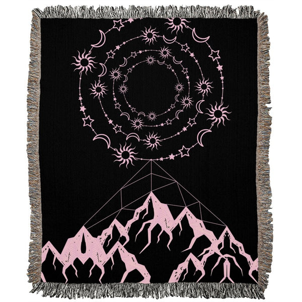 Universe and Mountains Woven Blanket-famenxt