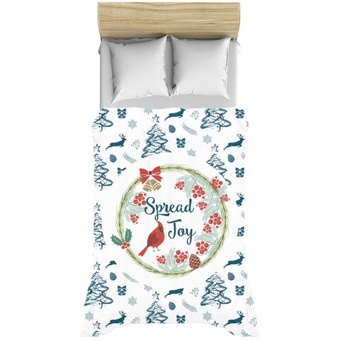 Spread Joy Blue Pattern Duvet Cover-famenxt