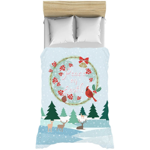 Peace on Earth Landscape Duvet Cover-famenxt