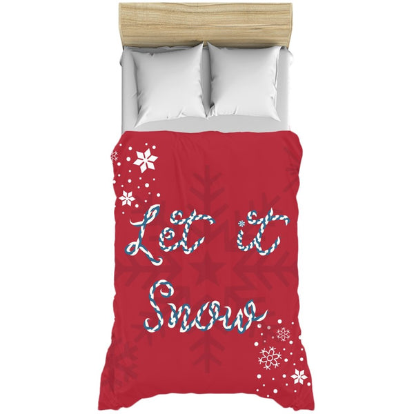 Let it Snow Red Duvet Cover-famenxt