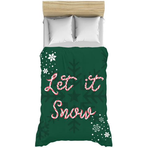 Let it Snow Green Duvet Cover-famenxt