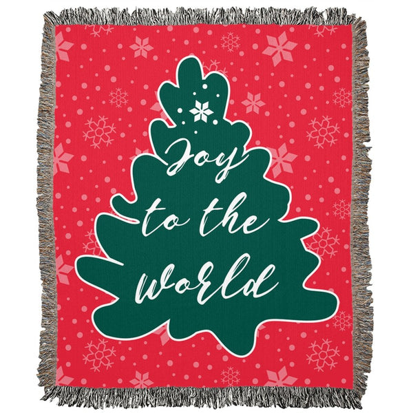 Joy to the World Woven Blanket-famenxt