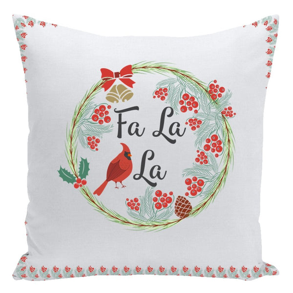 Fa La La Throw Pillow-famenxt