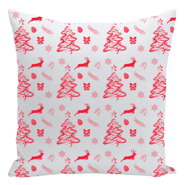 Christmas Pattern Red Throw Pillow-famenxt