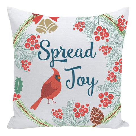 Spread Joy Throw Pillow-famenxt