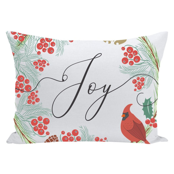 Joy Christmas Throw Pillow-famenxt