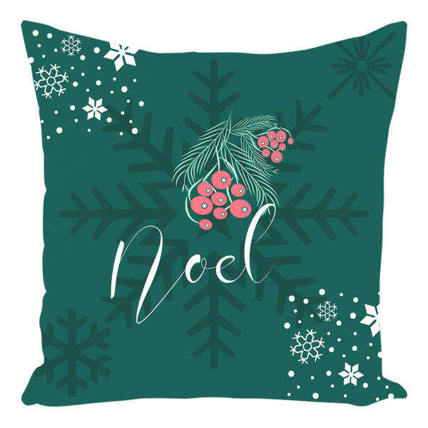 Noel Green Christmas Throw Pillow-famenxt