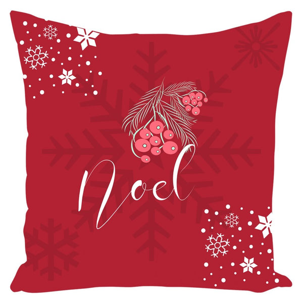 Noel Red Christmas Throw Pillow-famenxt
