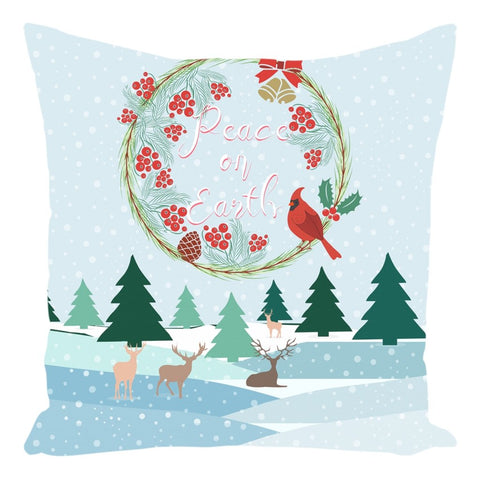 Peace on Earth Throw Pillow-famenxt