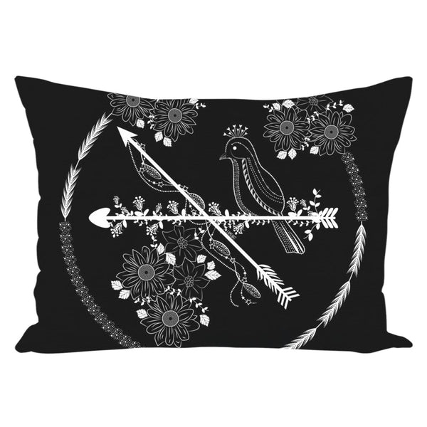 Arrows and Bird from my15bohemianart Collection Throw Pillow-famenxt