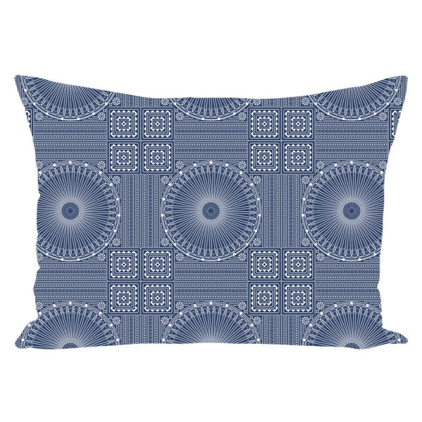 Gujarat Bandhani Blue from my15bohemianart Collection Throw Pillow-famenxt