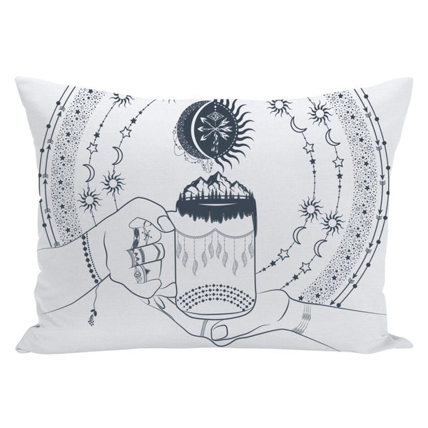 My Bohemian World from my15bohemianart Collection Throw Pillow-famenxt