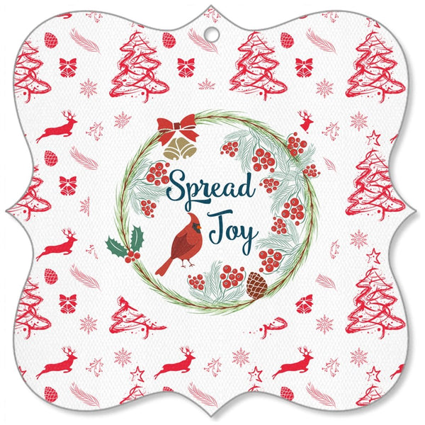 Spread Joy Canvas Ornaments-famenxt