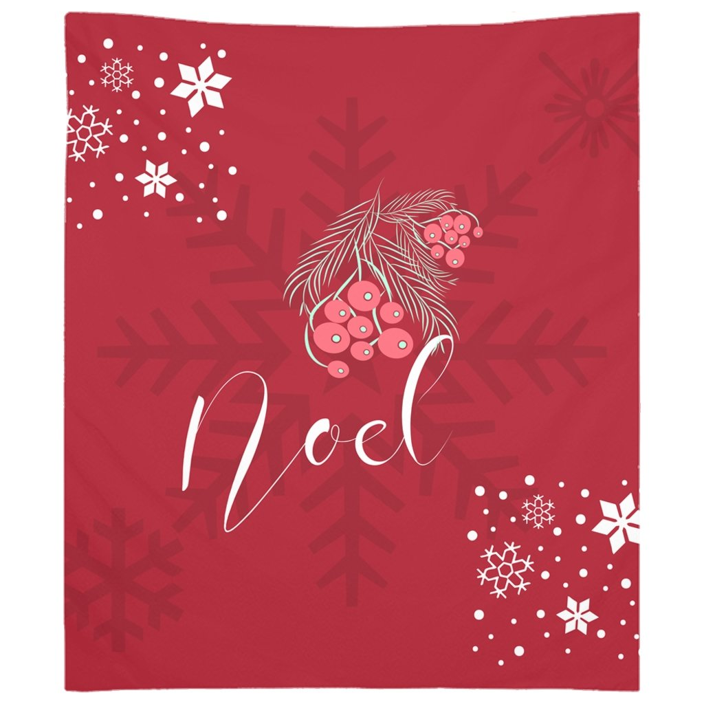 Noel Red Christmas Tapestry-famenxt