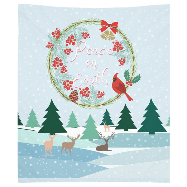 Peace on Earth Winter Landscape Tapestry-famenxt