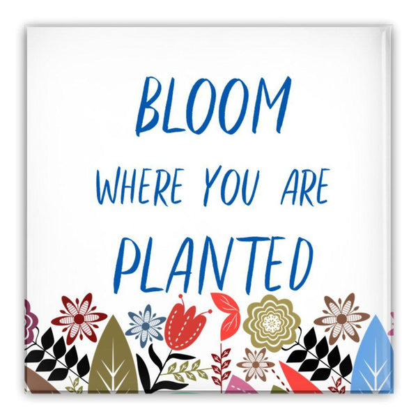 Bloom Where You are Planted Pin-Back Buttons-famenxt