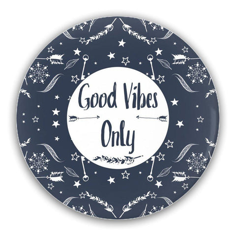 Good Vibes Only Pin-Back Buttons-famenxt