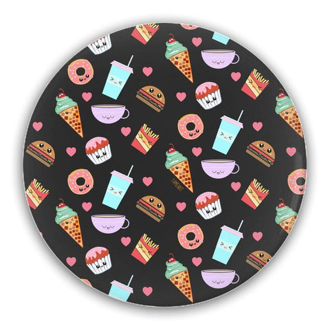 "Set of Five 2.5"" Round Pin-Back Buttons For Foodies-famenxt"