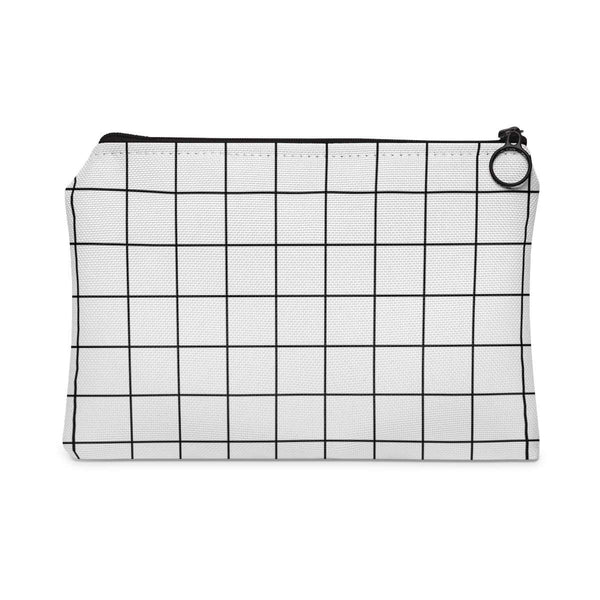 Grid White Accessory Pouch-accessory pouches-famenxt