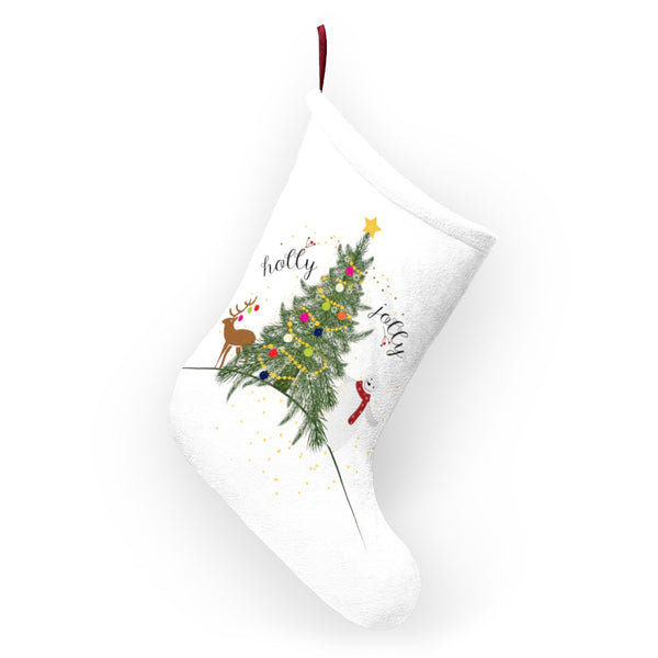 Holly Jolly Christmas Stocking Double Sided Printed-Home Decor-famenxt