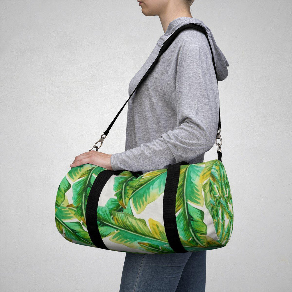 Tropical Banana Leaves Duffle Bag-Bags-famenxt