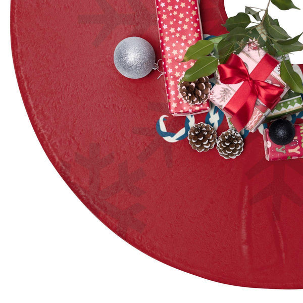 "Let it snow Red 44"" Christmas Tree Skirt-Home Decor-famenxt"