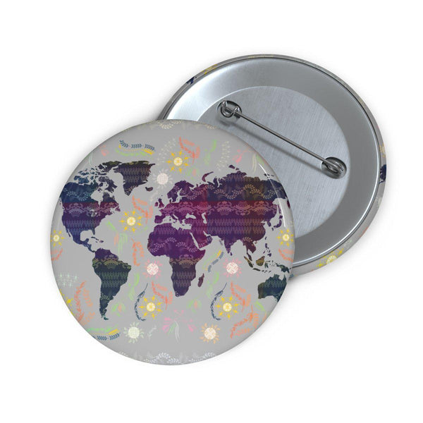 World Map Pin Button-Accessories-famenxt