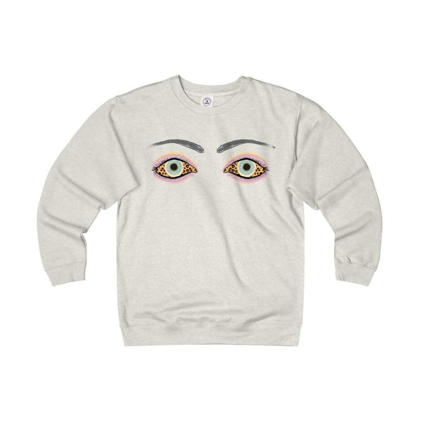 Eyes on You Adult Unisex Heavyweight/Lightweight Fleece Crew-Sweatshirt-famenxt