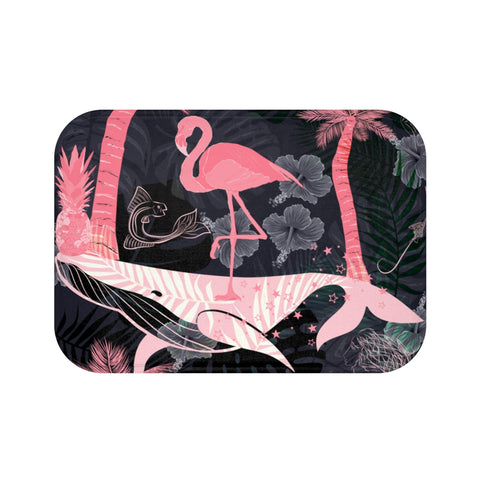 Tropical Surreal Paradise Bath Mat-Home Decor-famenxt