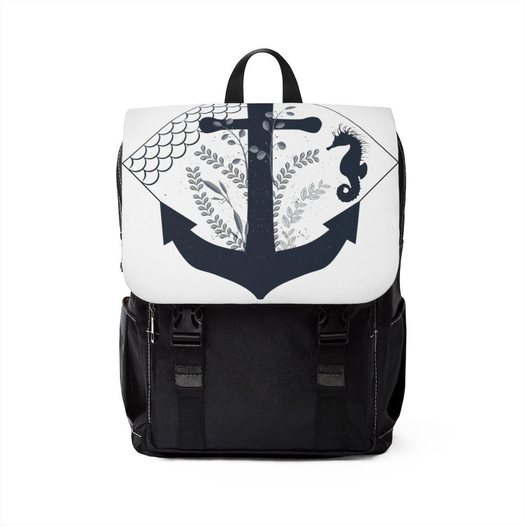 Nautical Anchor Unisex Casual Shoulder Backpack-Bags-famenxt