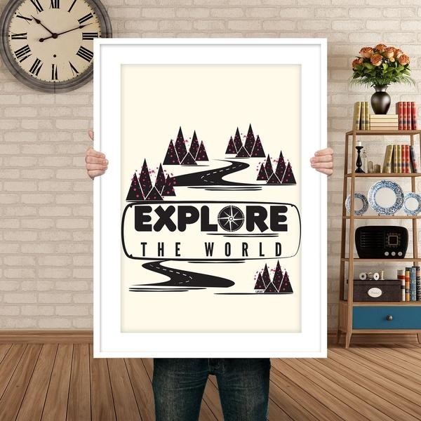 Explore the world poster-Posters-famenxt