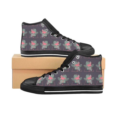 Flamingo Pattern Women's High-top Sneakers - famenxtshop
