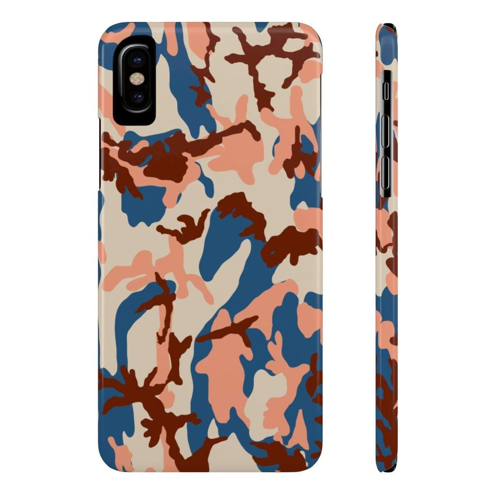 Orange Camo Camouflage Slim Phone Cases-Phone Case-famenxt