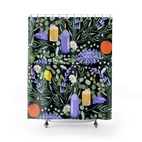 Aromatic Vibes Shower Curtain and Bath Mats-Home Decor-famenxt