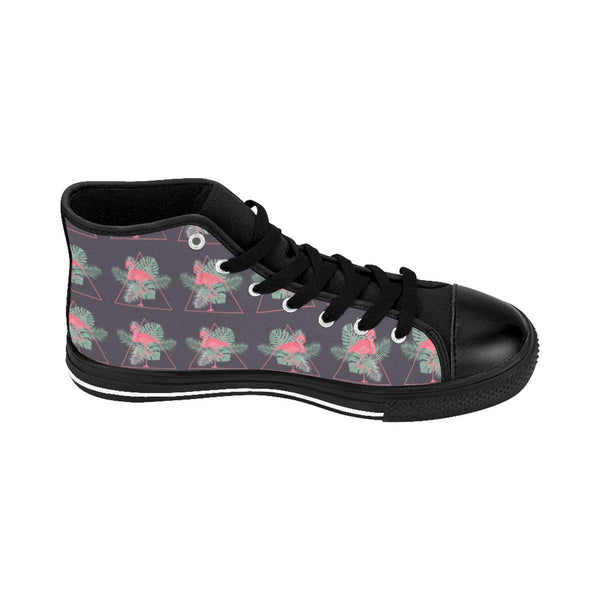 Flamingo Pattern Women's High-top Sneakers-Shoes-famenxt
