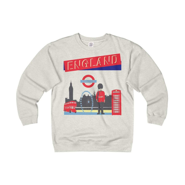 Travel London Adult Unisex Heavyweight/Lightweight Fleece Crew-Sweatshirt-famenxt