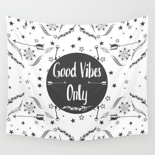 Good Vibes Wall Tapestry-Wall Tapestry-famenxt