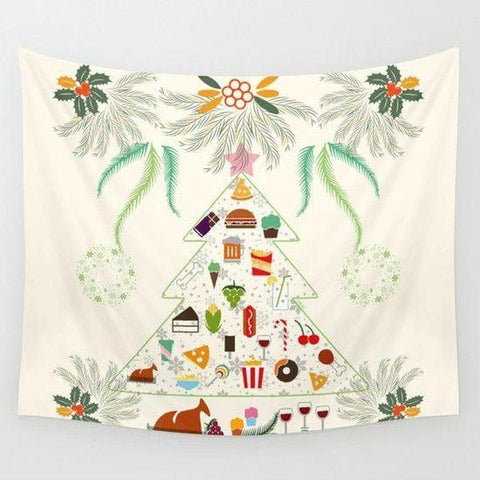 Christmas feast Wall Tapestry-Wall Tapestry-famenxt