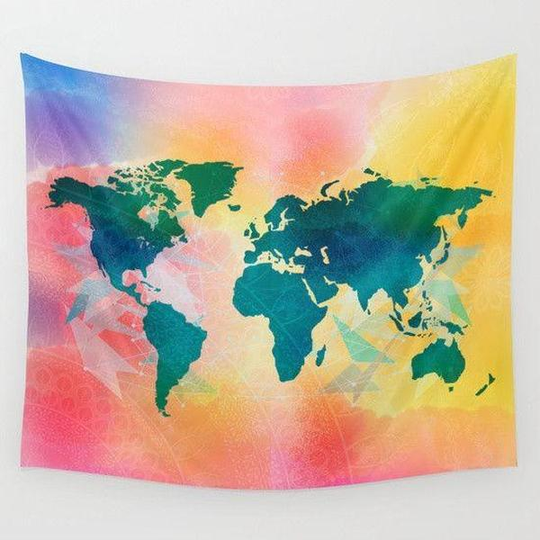 Map Wall Tapestry-Wall Tapestry-famenxt