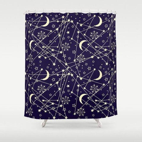 "Galaxy shower curtain Sizes: 70in x 70in, 70in x 83in, 70in x 90in, 71in x 74in Sizes: 70"" x 70"", 70"" x 83"", 70"" x 90"", 71"" x 74""-Shower Curtain-famenxt"