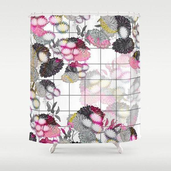Shabby chic shower curtain-Shower Curtain-famenxt