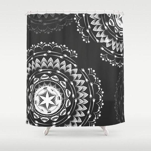 Mandala boho shower curtain-Shower Curtain-famenxt