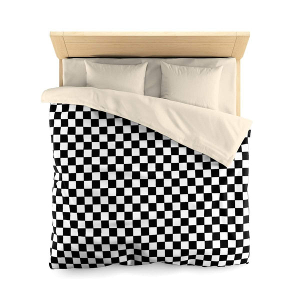 Checkers Microfiber Duvet Cover-Home Decor-famenxt